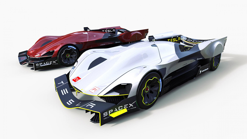 All-Electric Racing Le mans Car concepts by Tesla