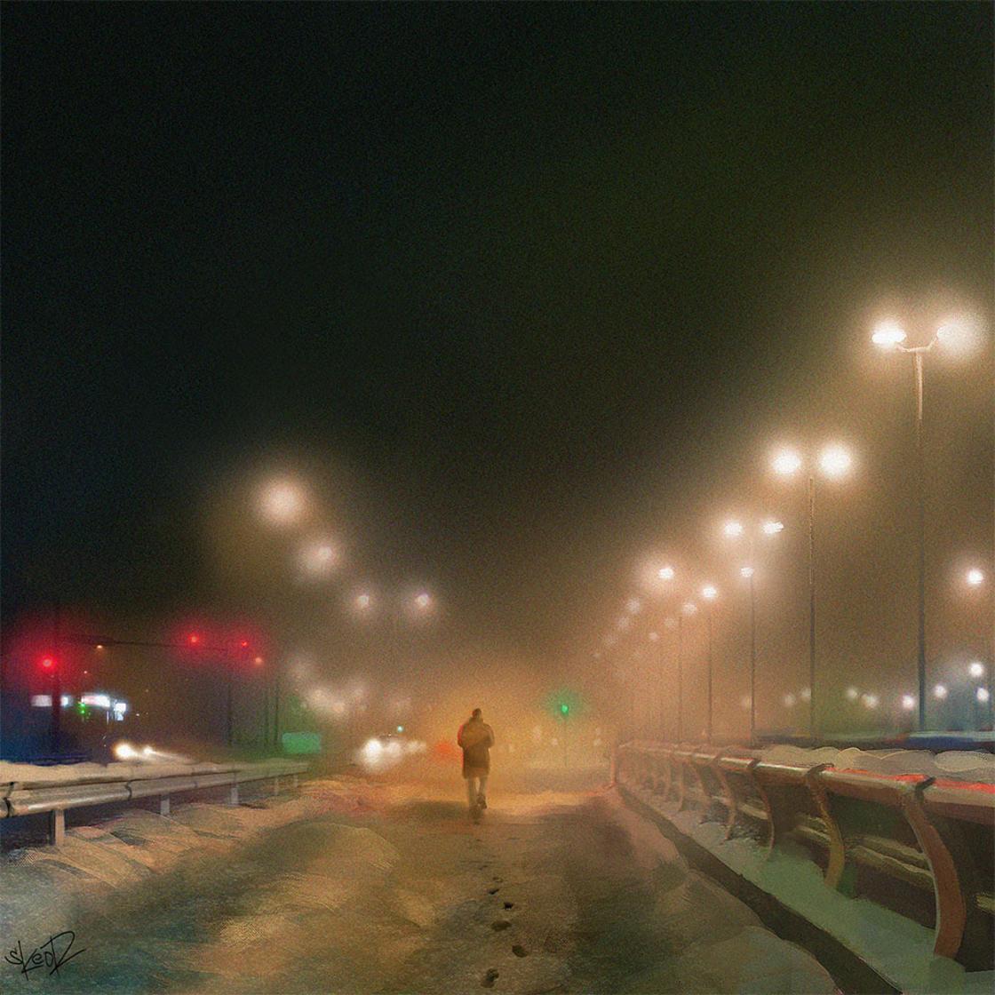 Chromatic Horizon – Les illustrations sombres et futuristes de Tony Skeor