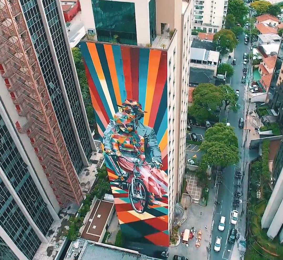 Os incriveis graffitis de Sao Paulo vistos atraves de um drone