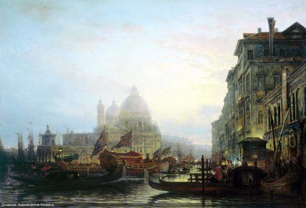 Венеция ночью. 1850-еТульский областной художественный музей