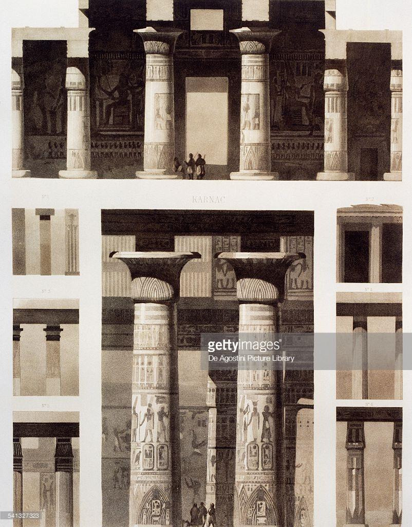 1841. Архитектурная деталь в Рамессеуме