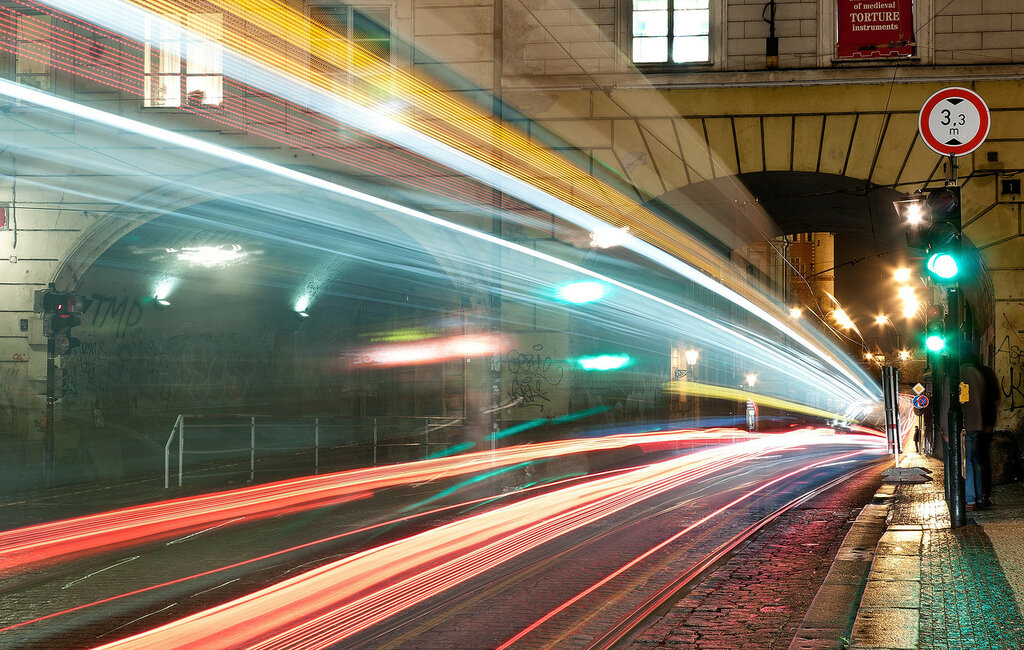 Ночной трамвай.