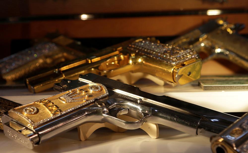 Золотое оружие мексиканских наркобаронов