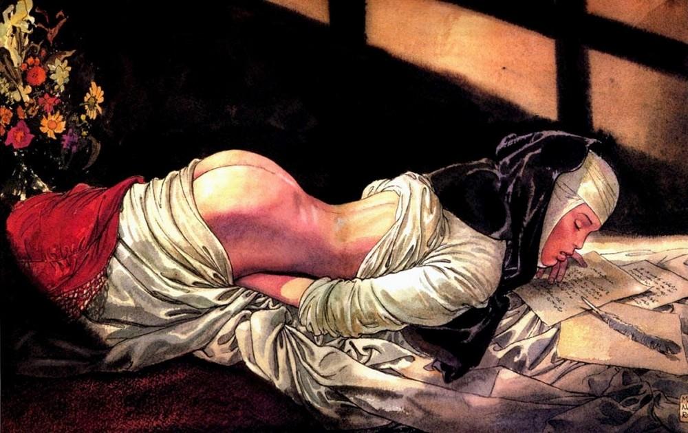 Эротические работы итальянского художника Мило Манара