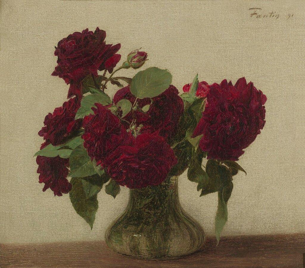 Henri Fantin-Latour - Roses Foncees jpg