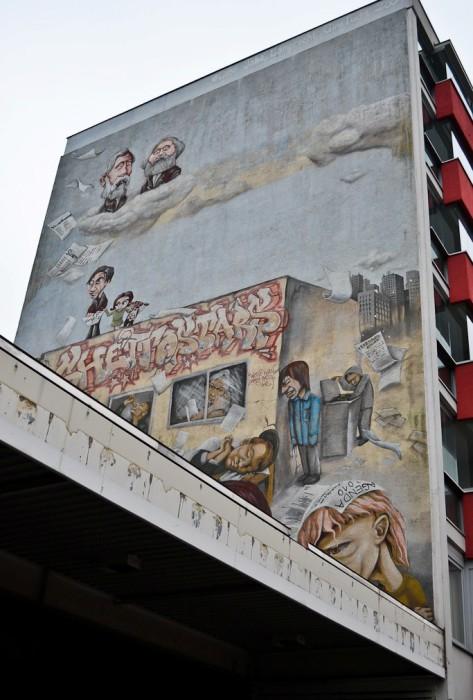 21. Карл Маркс и Фридрих Энгельс (слева вверху), автор неизвестен, Берлин.