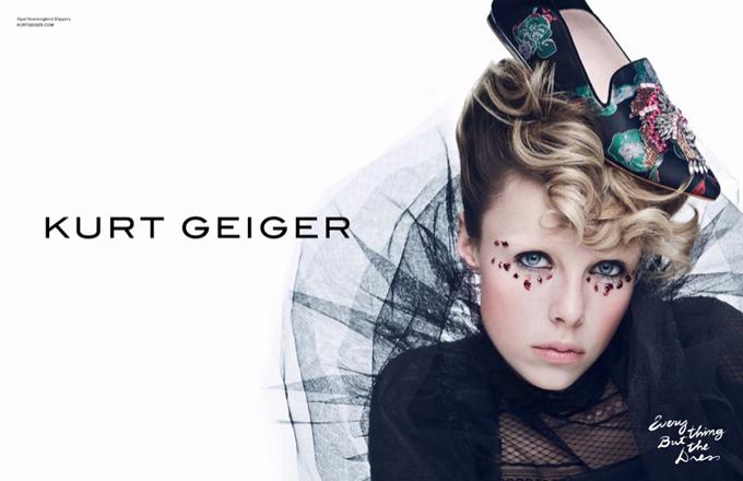 Эди Кэмпбелл в рекламной кампании Kurt Geiger (10 фото)