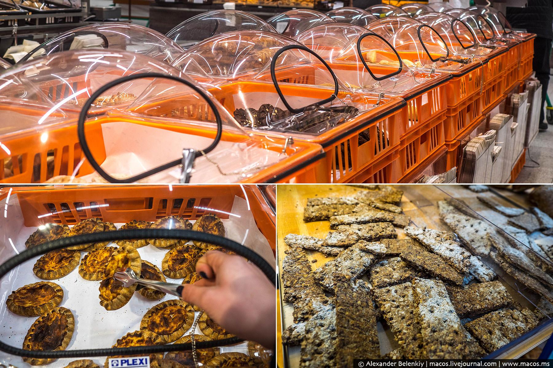 В хлебном отделе много черного. Это хорошо, мало где в Европе знают ржаной хлеб. У финнов есть даже
