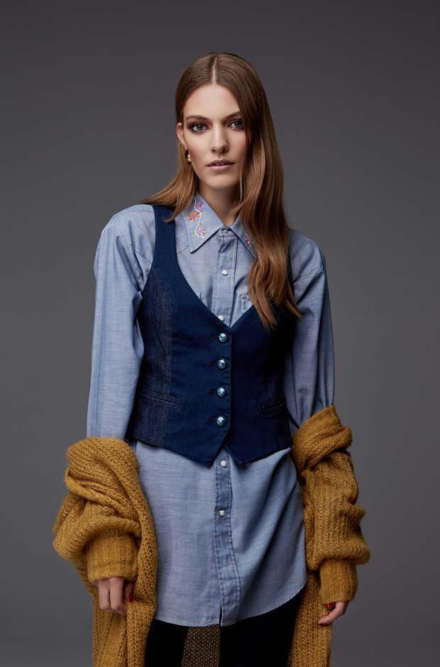 Wool maxi cardigan Atos denim waistcoat GAS denim shirt with embroidery vintage A.N.G.E.L.O. denim t