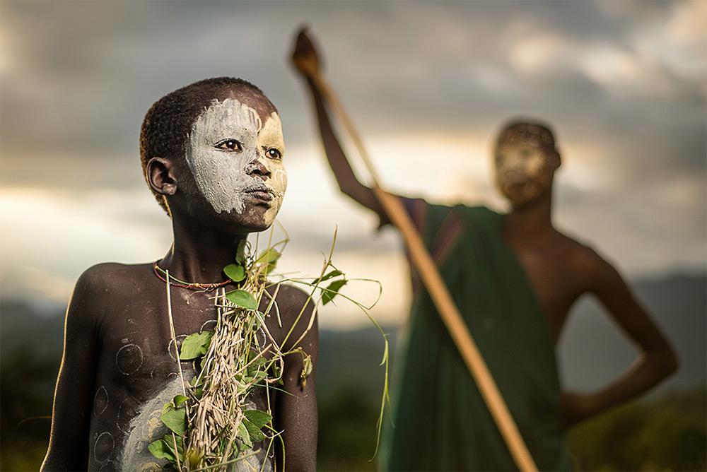 Sergio Carbajo Rodriguez (La Garriga, Spain). Finalist: Travel. Portrait of a young Suri boy going w
