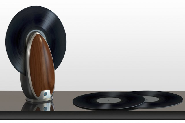 Vertical Vinyl Records Player