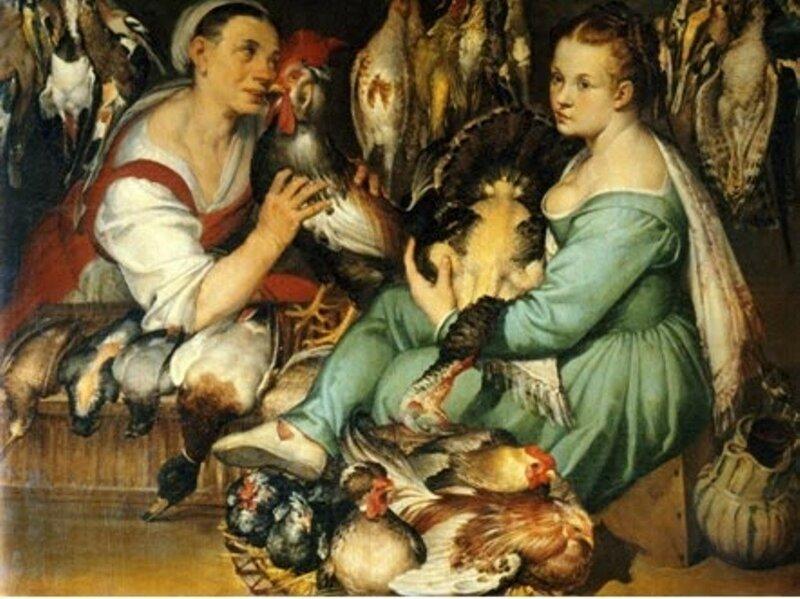 2 Bartolomeo Passarotti (Italian artist, 1529-1592)  Les marchandes de volaille, 1577,.jpg