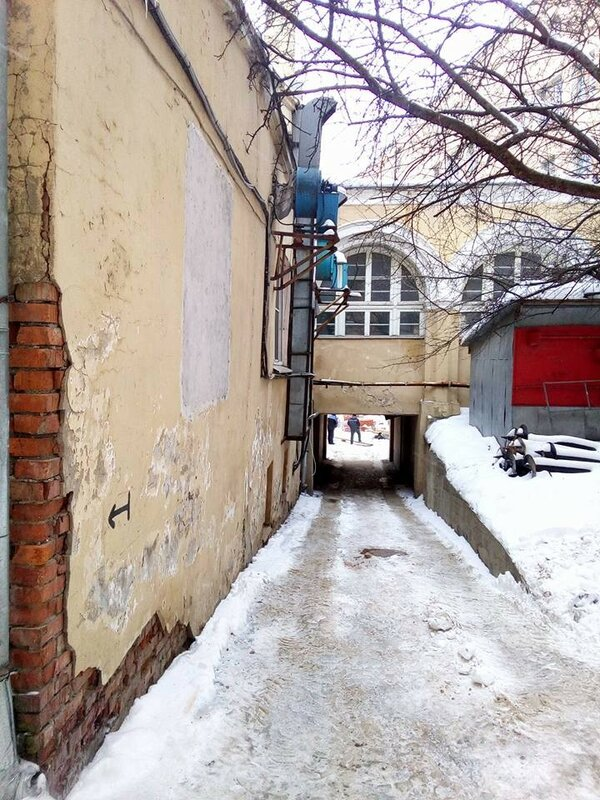 Реставрация галереи внутреннего двора Ивановского монастыря. 2017. Фот. Павел Карташев