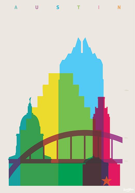 Shapes of cities - Les silhouettes des villes du monde