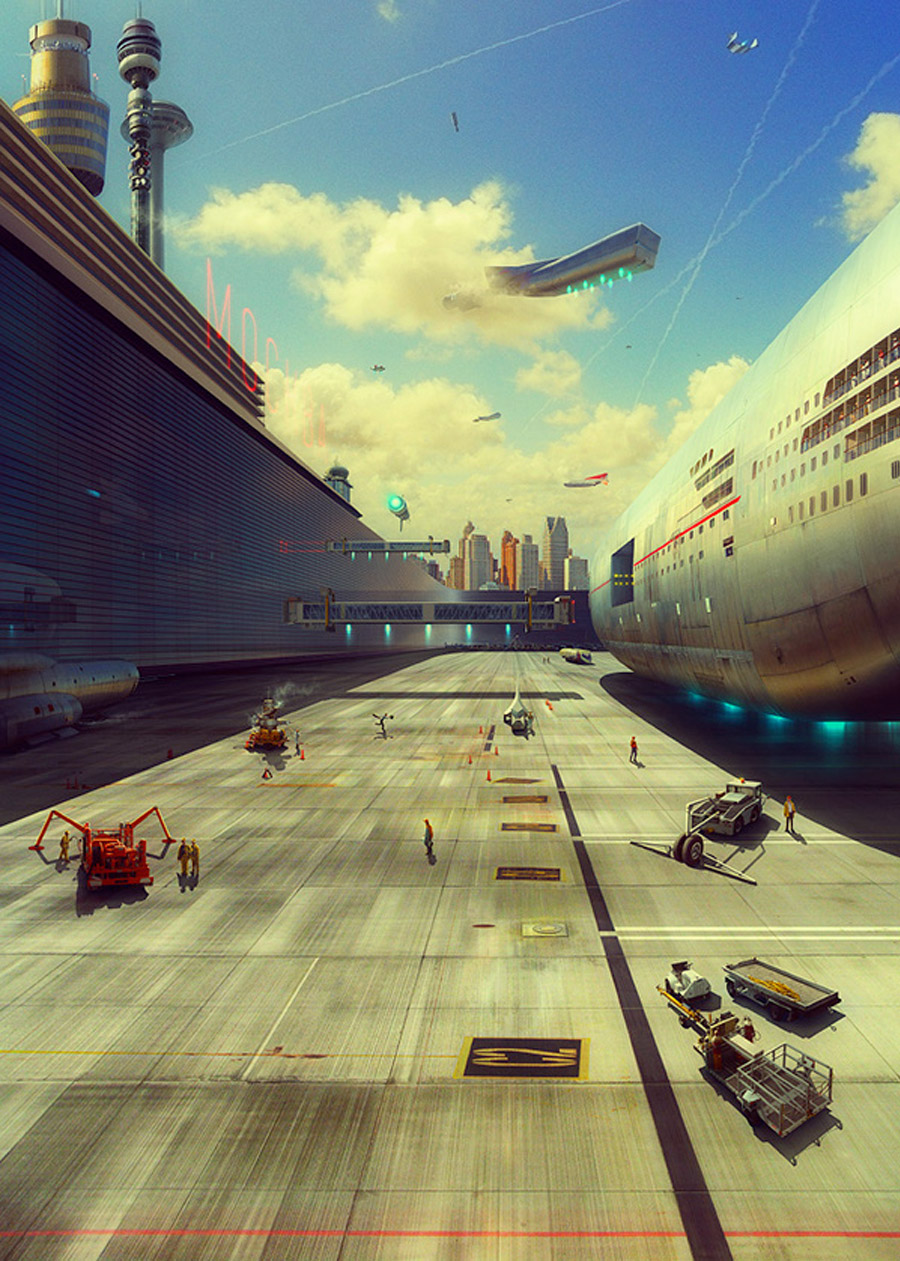 Past in the Future, as ilustracoes de Evgeny Kazantsev