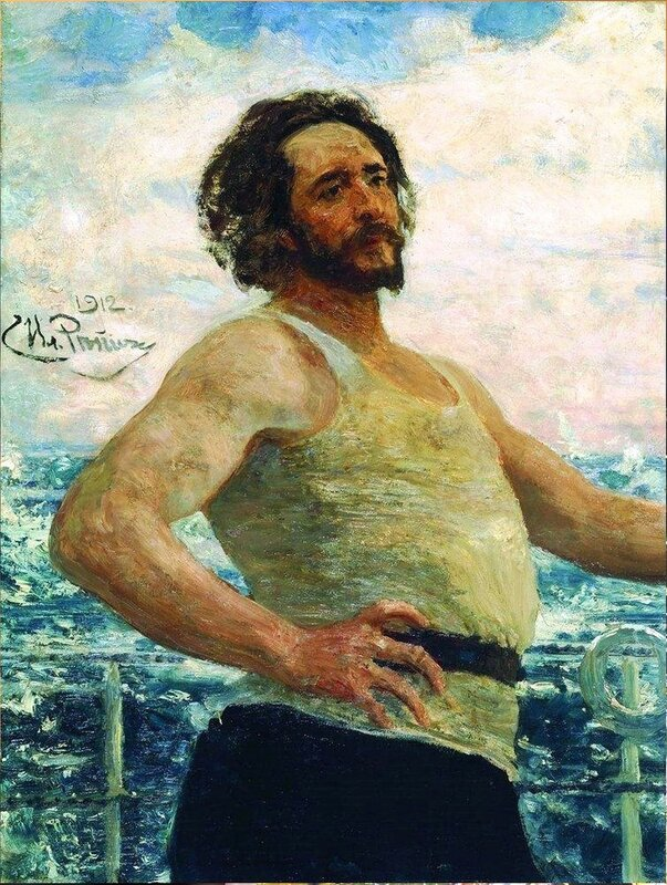 Портрет писателя Леонида Андреева, 1912. Русский художник Илья Ефимович Репин.jpg