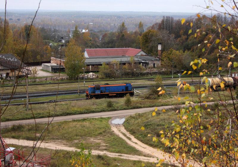 ТЭМ2УМ-750 на станции Себеж с холма