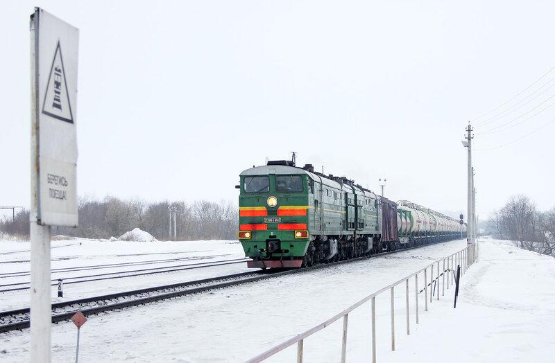 2ТЭ10МК-3638 на станции Залегощь следует на Верховье