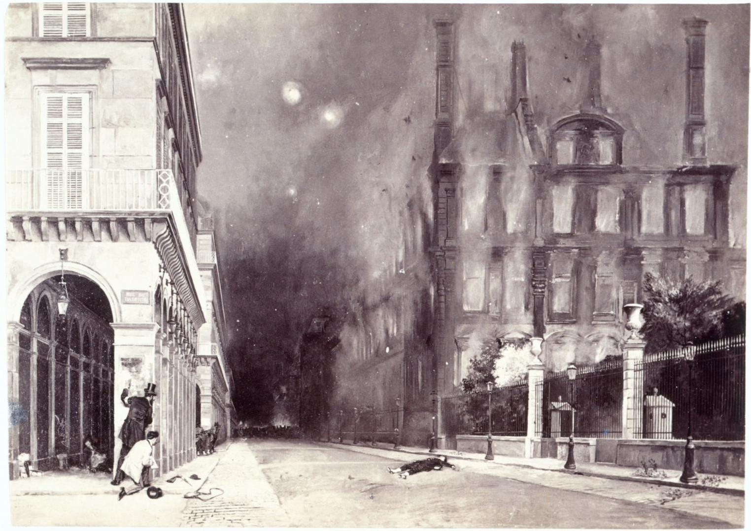 Пожар на улице Риволи
