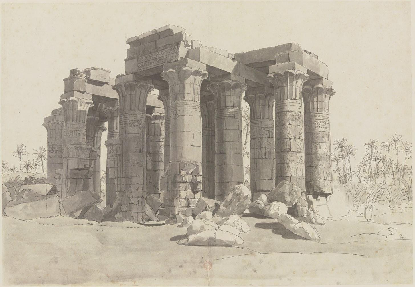 Фивы. Вид храма с западной стороны