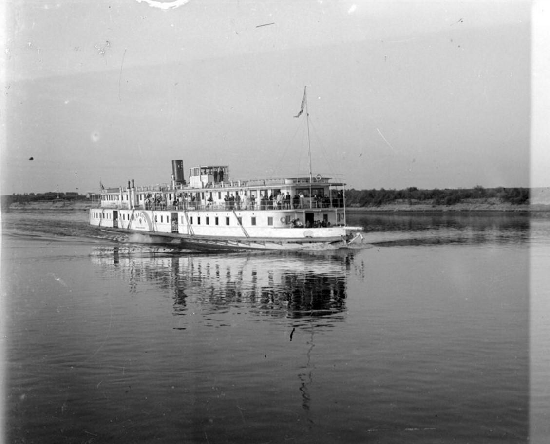 1890-1900. Пассажирский пароход на реке Волге.Нижний Новгород