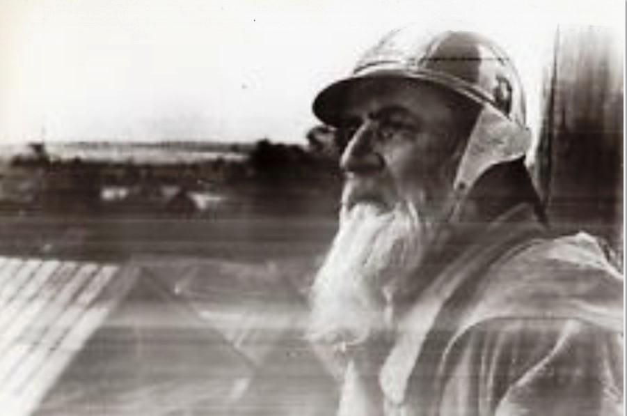 1941. Колхоз Авангард. Иван Линьков, добровольный член бригады пожарных