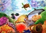 """Головяшкин Тимофей (рук. Стрикулистова Лидия Константиновна) - """"Богатства подводного мира"""""""