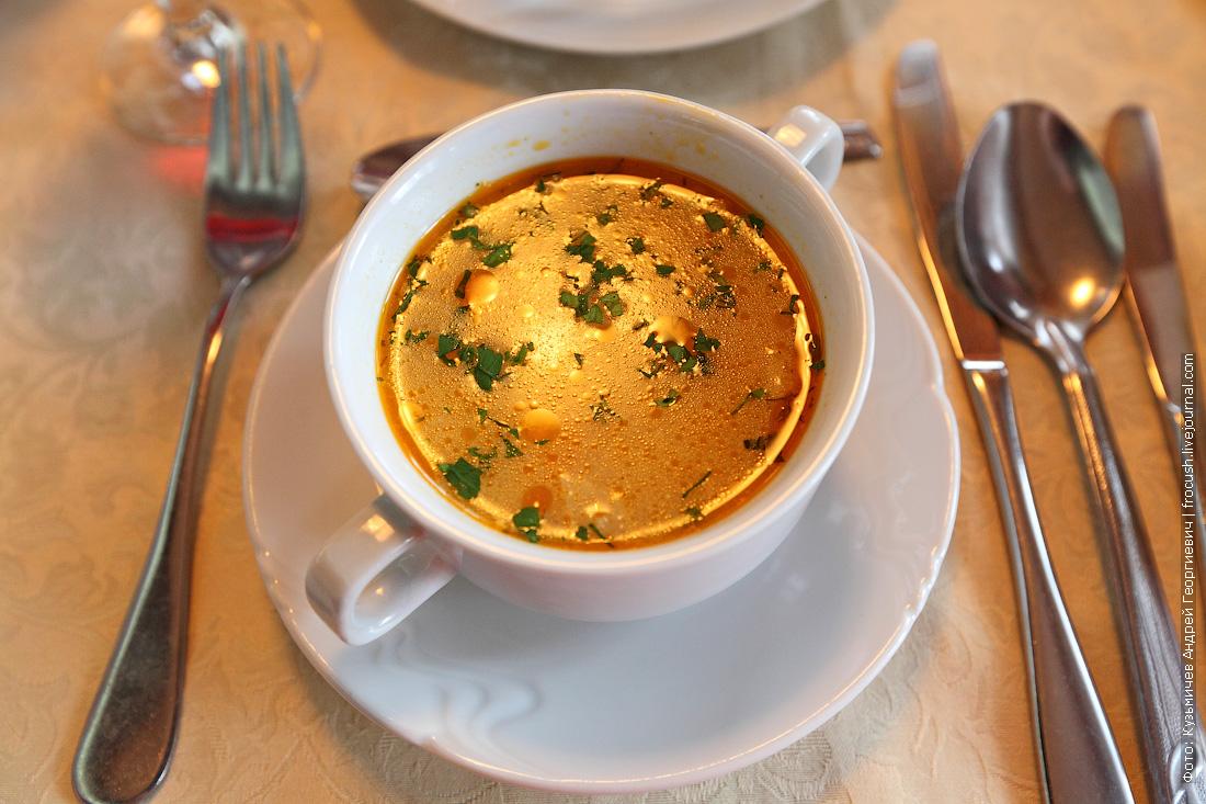 суп в ресторане теплохода