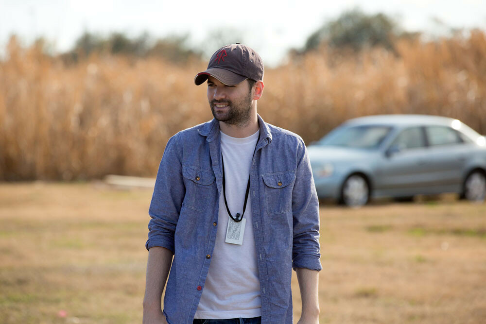 Director Dan Trachtenberg on the set of 10 CLOVERFIELD LANE, by Paramount Pictures
