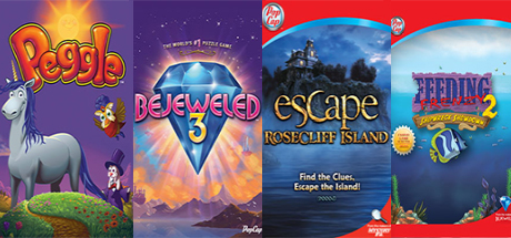[ Origin key ] Peggle Deluxe, Bejeweled 3, Bookworm Deluxe, Escape Rosecliff Island, and Feeding Frenzy 2 Deluxe