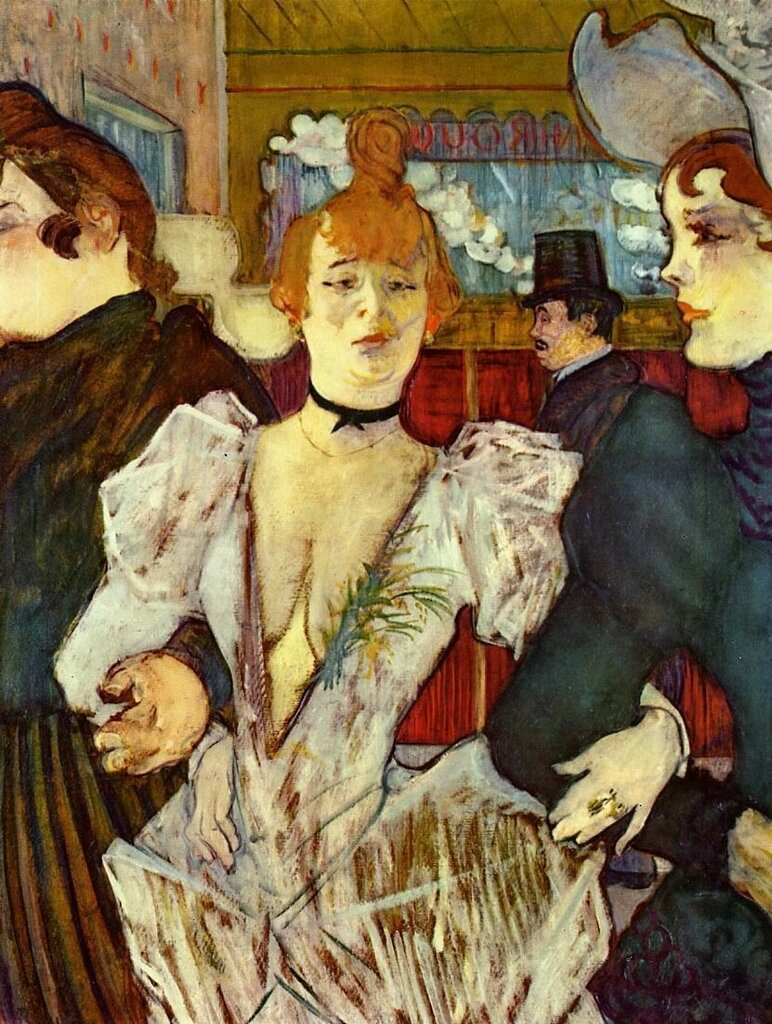 La Goulue Arriving at the Moulin Rouge with Two Women - 1892 - Museum of Modern Art - New York - Painting - oil on cardboard.jpg