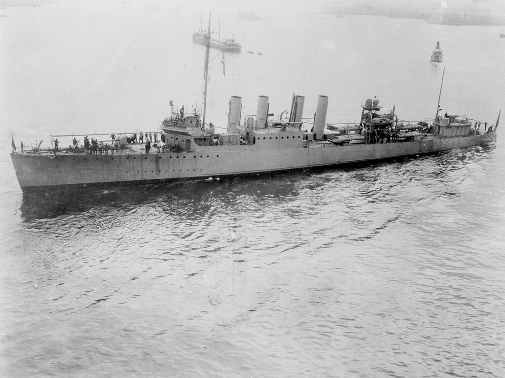 USS PAUL JONES (DD-230). Photographed about 1921, while fitting out.
