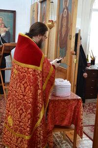 Чтение молитвы на раздробление Артоса