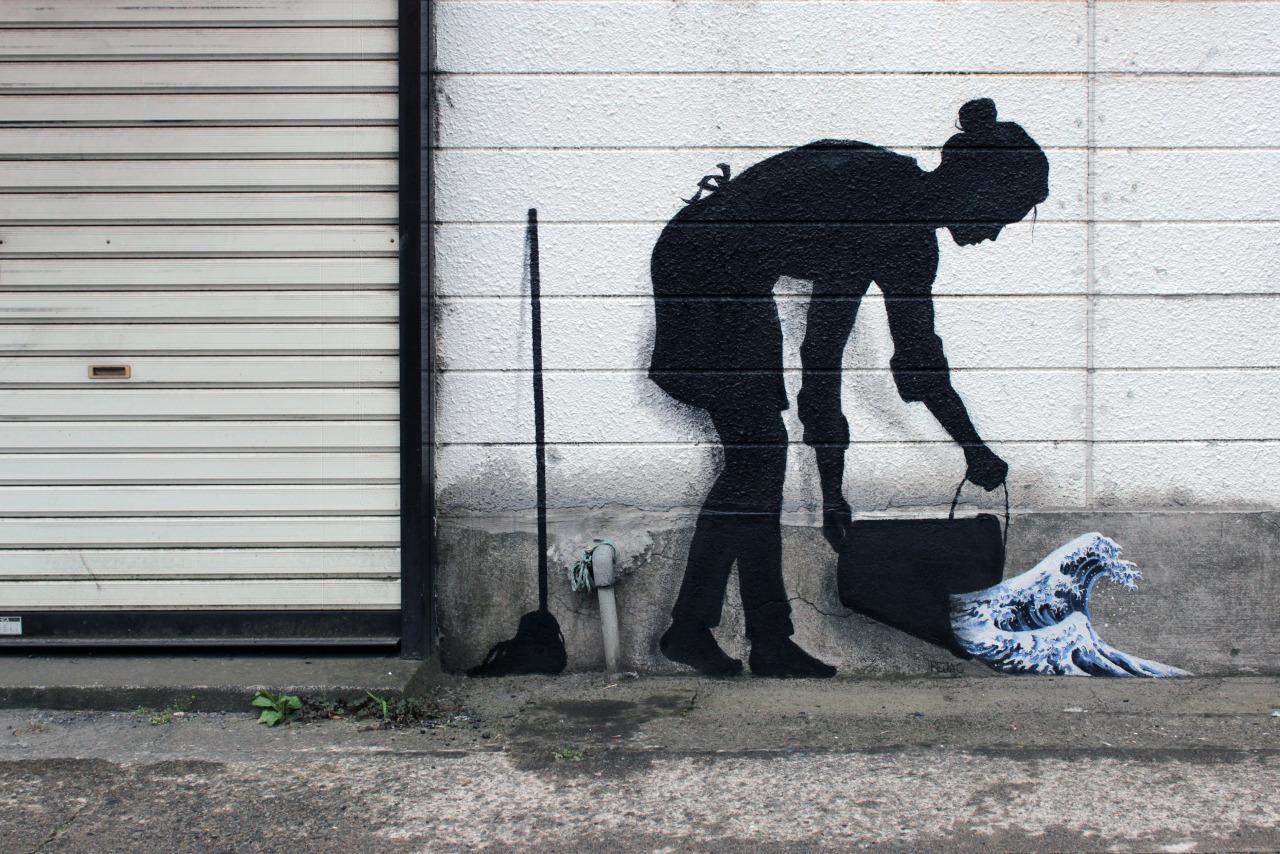 Оригинальный стиль этого художника, его изящная игра со смыслами и пространством улицы вызывают непо