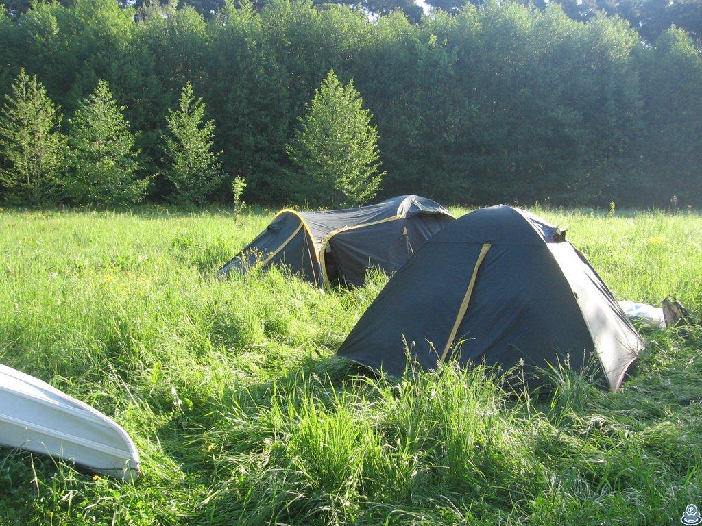 Палатки на берегу Ворсклы