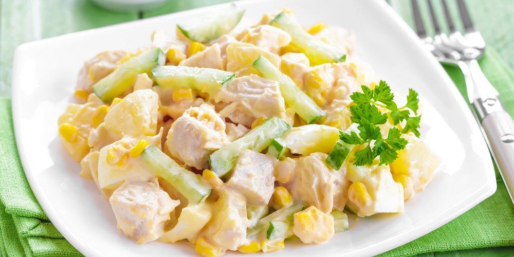 Вкусные салаты с курицей и кукурузой рецепты