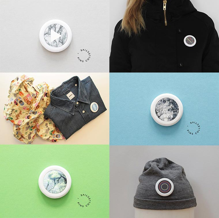 Pins Collective - A clever connected pin capable of displaying animated GIFs