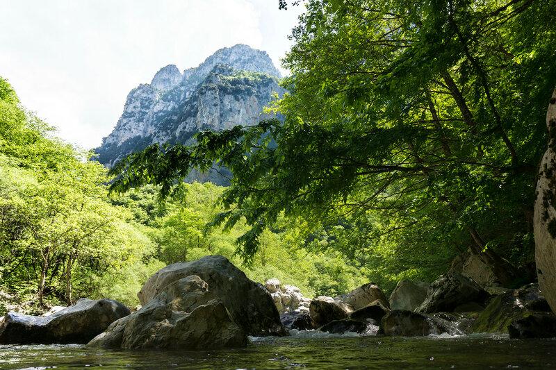 точка обзора Beloi в ущелье Викос (Vikos gorge)