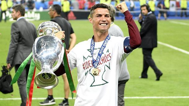Криштиану Роналду признан спортсменом года вевропейских странах