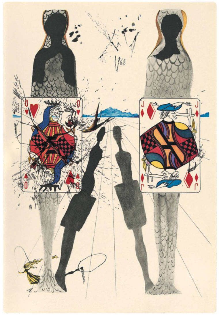 Rare artworks of Salvador Dali illustrating Alice in Wonderland