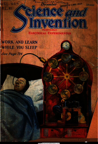 Science & Invention: 1921 December - - Book Cover