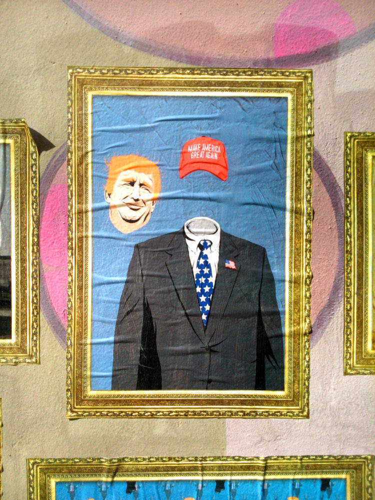 Trump x Magritte: Street Art Series by Butcher Billy