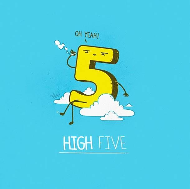 High Five - 35 adorables doodles de Nabhan Abdullatif