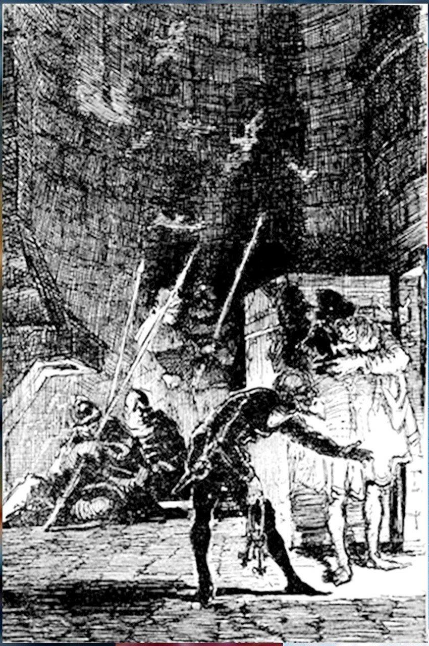 Рисунки художника Г. Г. Филипповского. Ил - я романа В. Скотта. Квентин Дорвард (29).jpg