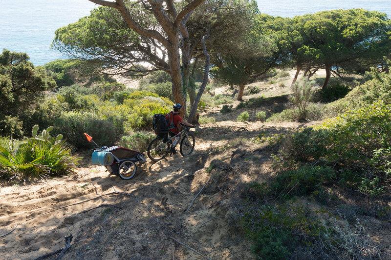 веломаршрут по парку Брена (Brena) вдоль берега Света (Costa del luz) у Трафальгара (Trafalgar)