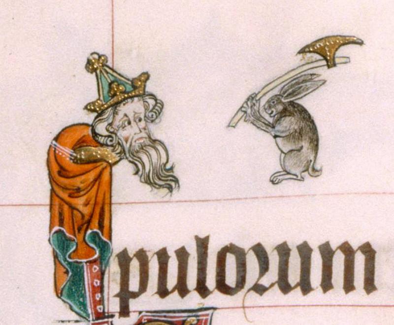 Gorleston Psalter, England 14th century. British Library, Add 49622, fol. 13v.jpg