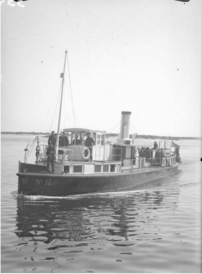 1915-1916. Пароход-буксир «№12»