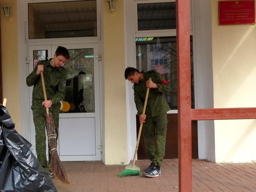 Чистота при входе в школу