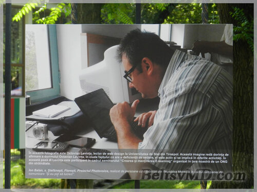 Фотовыставка «И я могу работать» открылась в Бельцах