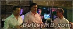 Саакашвили, Лянкэ и Филат — в ночном клубе столицы